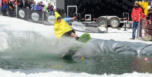 Pond Skim  PA Pennsylvania Ski Resort  Four Season Resort  Seven Springs Mountain Resort