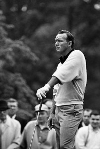 Golf: Thunderbird Classic Invitational: Arnold Palmer smoking cigarette during Friday play at Westchester CC.  Rye, NY 6/14/1963 CREDIT: Neil Leifer (Photo by Neil Leifer /Sports Illustrated/Getty Images) (Set Number: X9294 TK1 C12 F19 )